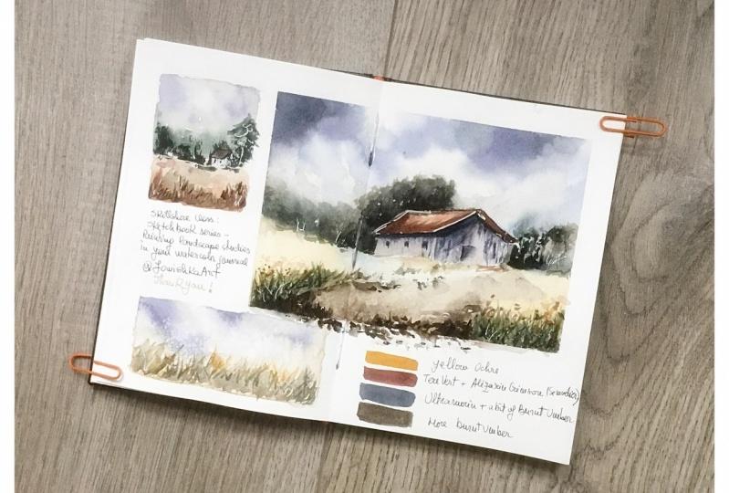 Sketchbook landscape studies