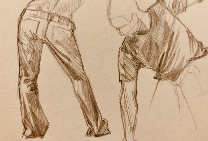 Drapery sketches