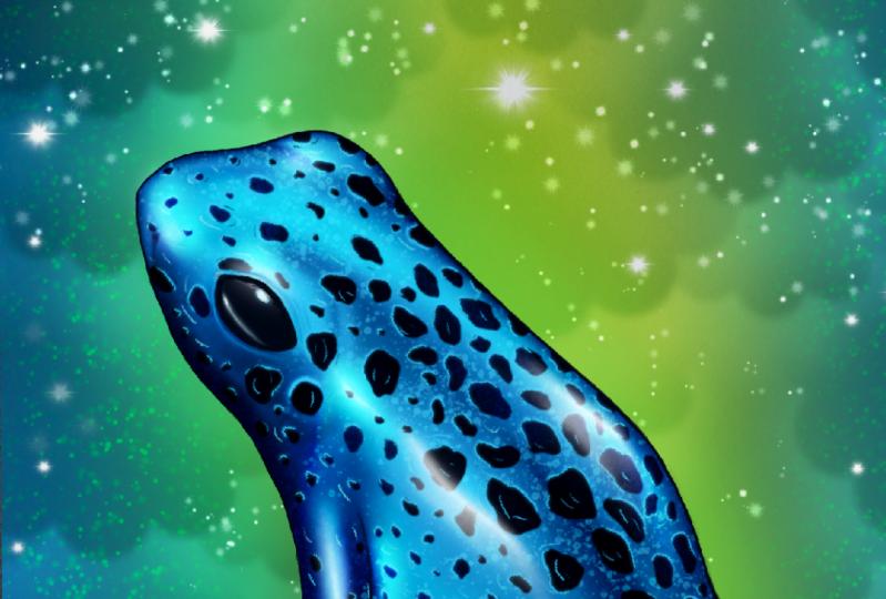 Digital Frog inspired by Maurizio De Angelis