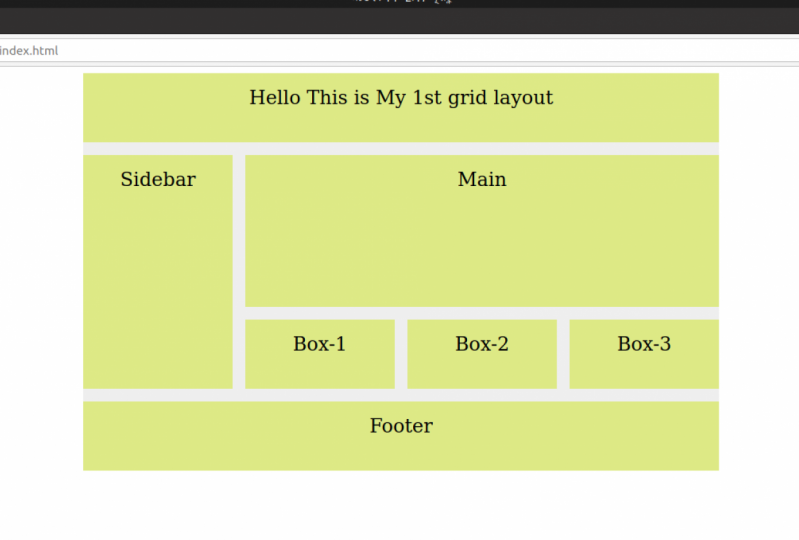 My 1st gird layout
