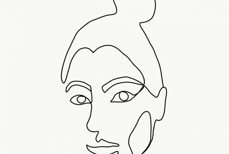 Line Drawn Self Portrait
