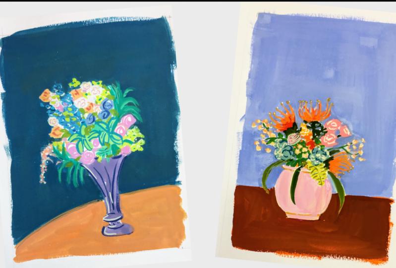 Gouache Flower Bouquets