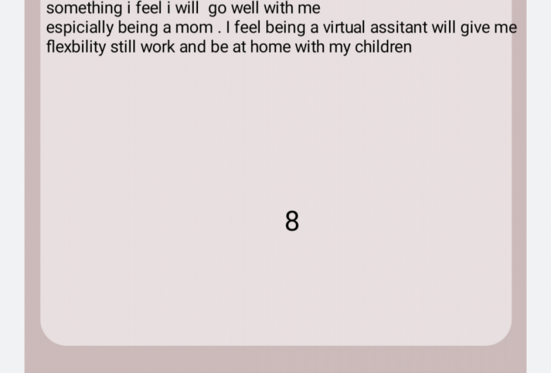 My answer to being virtual assistant