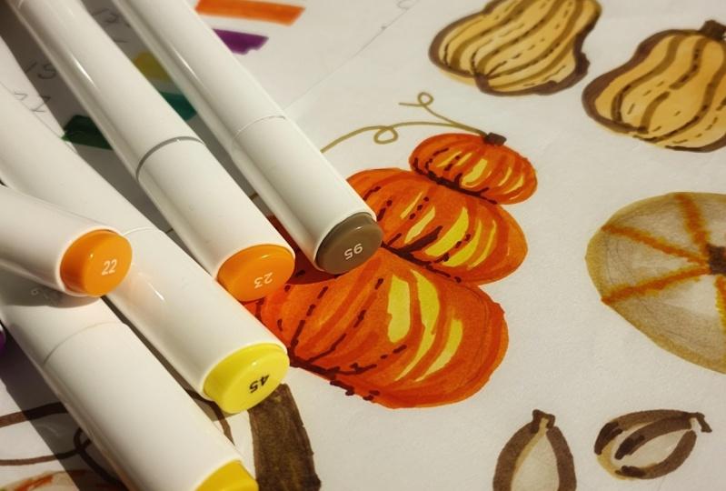 Fall pumpkins and gourds ^.^