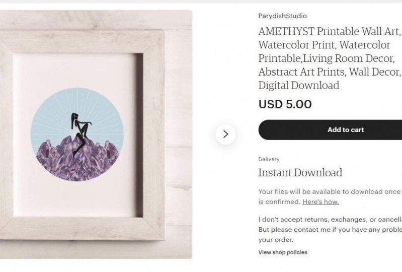 How to sell digital prints on Etsy