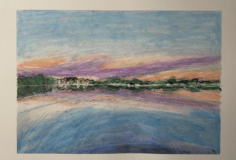 Sunrise over the Lafayette River
