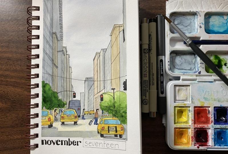 new york street sketch
