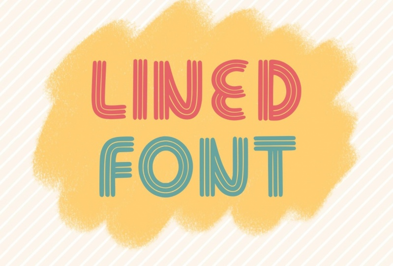 3 lined font