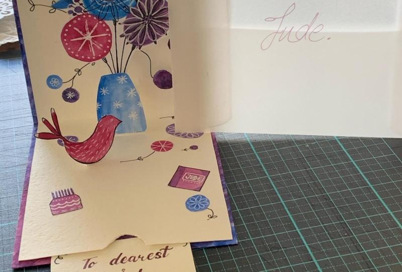 Judes's pop-up birthday card
