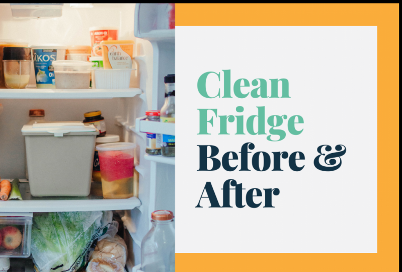 Clean Fridge - Before & After