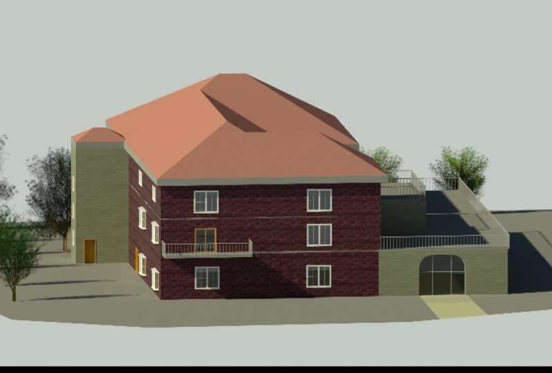 Model created after watching the course, using Revit 2021
