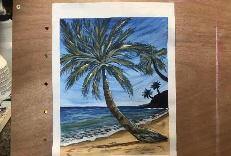 Tropical seascape lesson