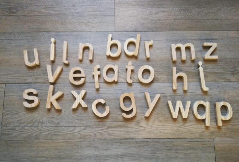 3D-Holzkleinbuchstaben