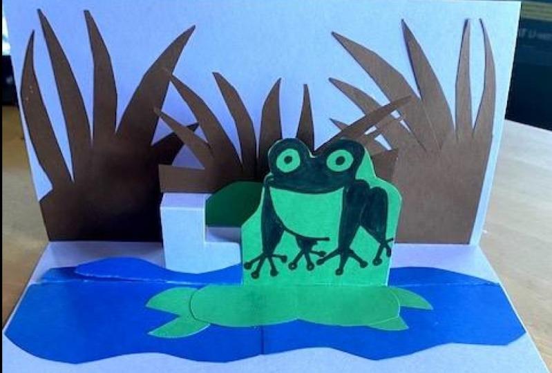 Pop up Frog card