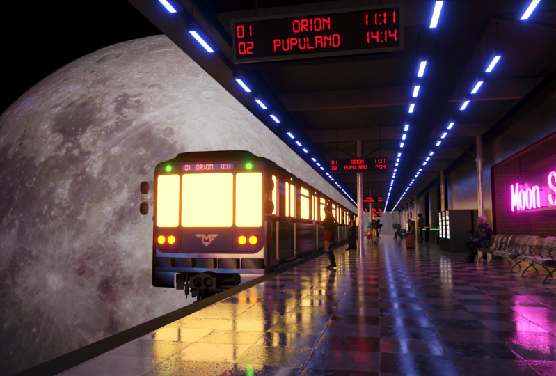 Seamless Loop: Moon Train-Station