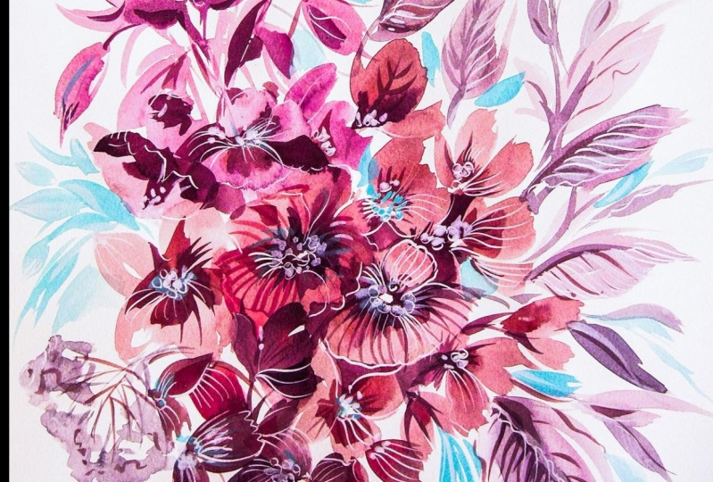 Winterly Floral composition upon Ten Principles of Painting