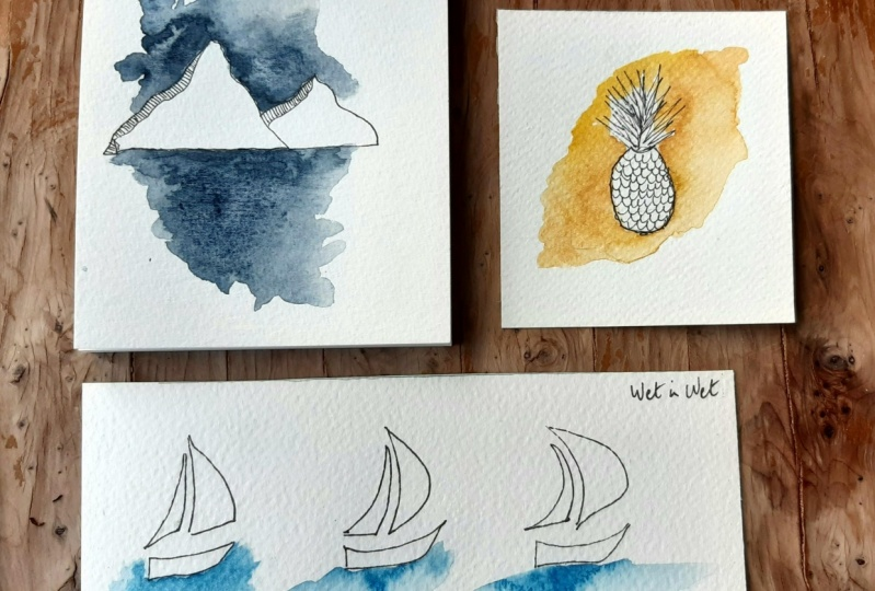 Watercolours splashes
