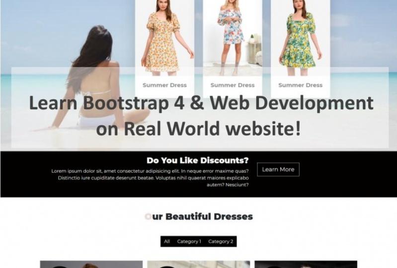 Learn Bootstrap 4 & Web Development