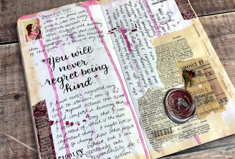 Completed Journal Pages - Drips & Splashes