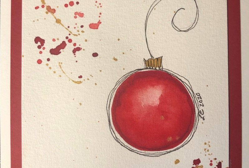Watercolor ornament