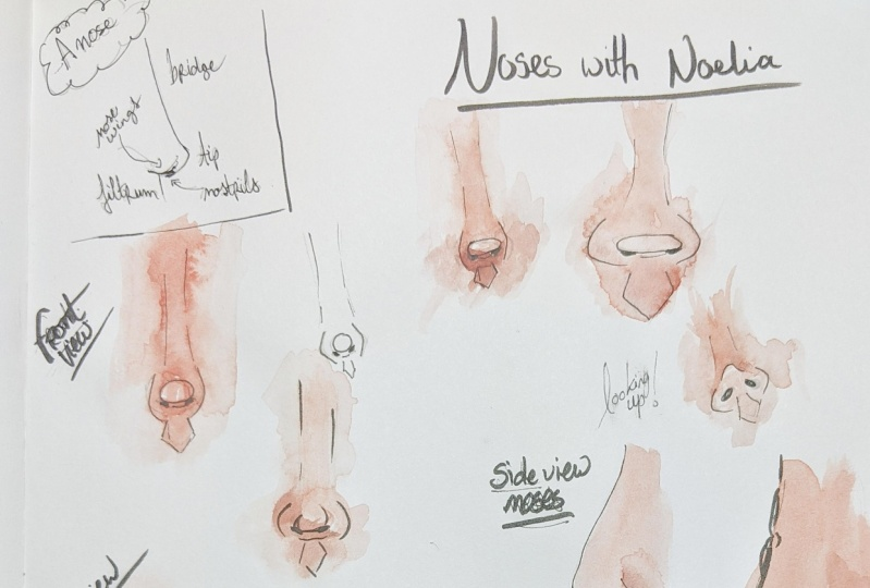 Drawing noses with Noelia