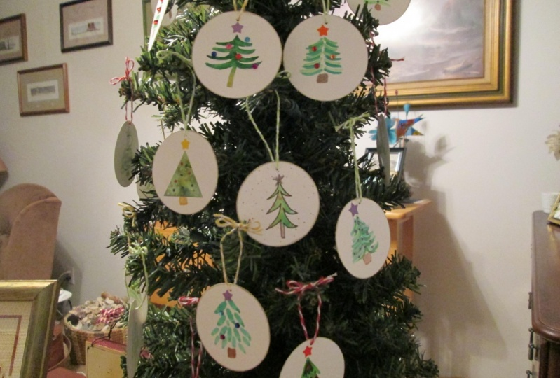 Watercolor Christmas Tree Advent Tree