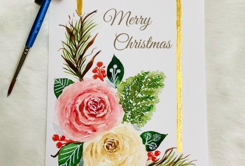 Christmas Modern Holiday Floral Project 01 & 02