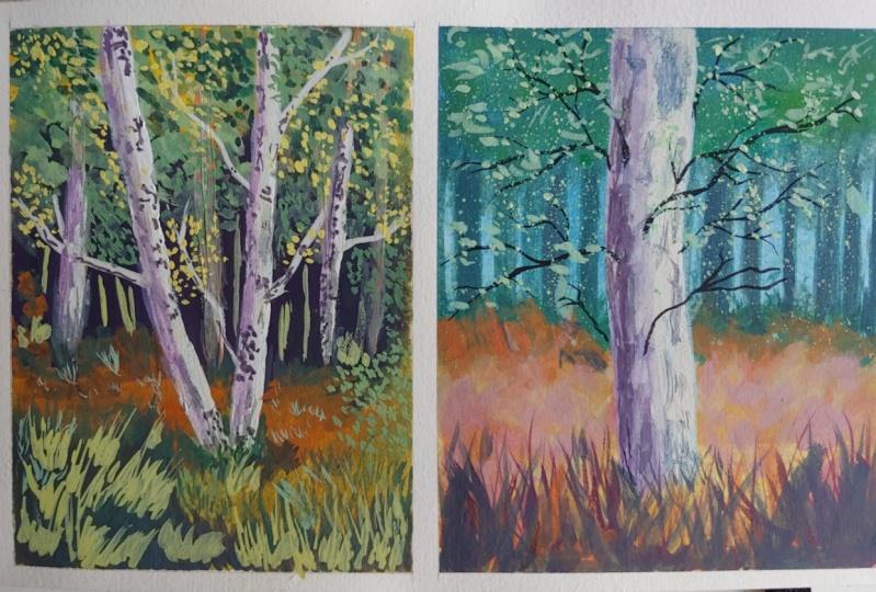 Trees in Gouache