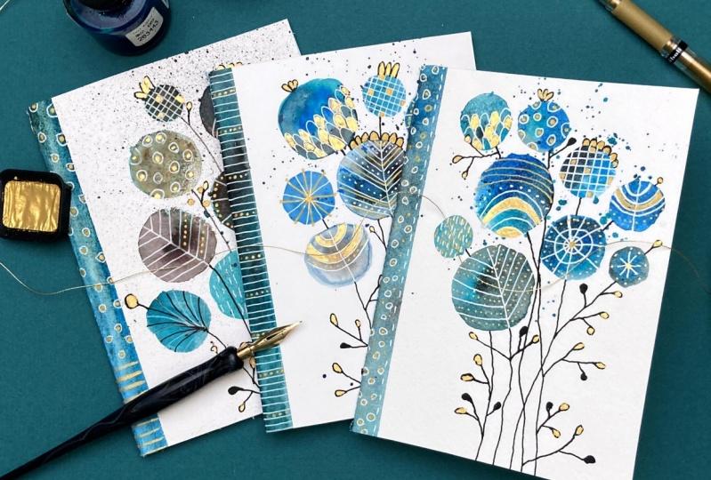 Inky Doodle Notebook Trio