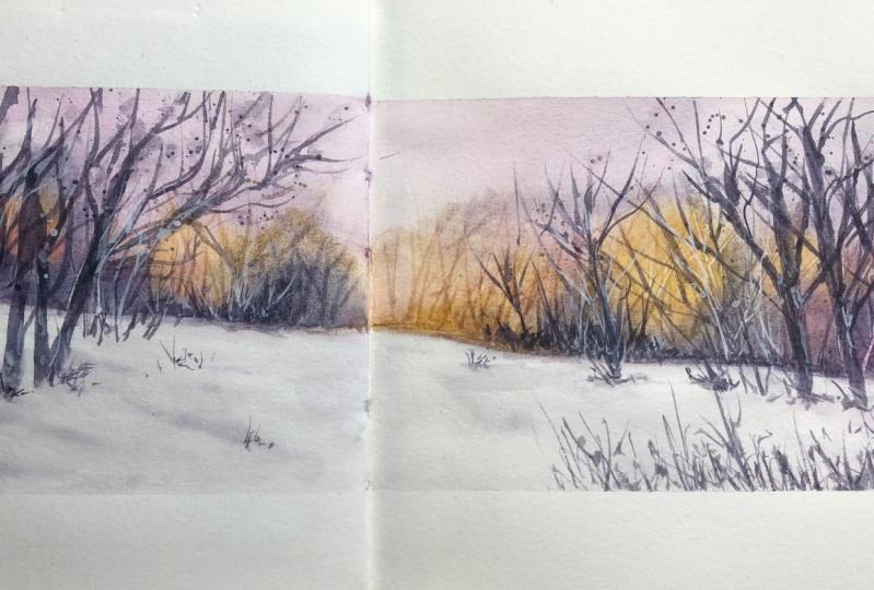 snowy landscape - Kerstin