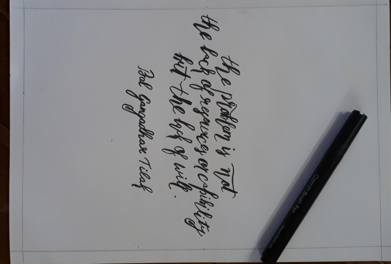 Work of art from calligraphy