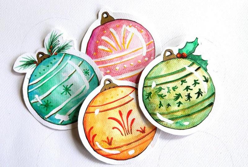 Christmas Ornaments Tags