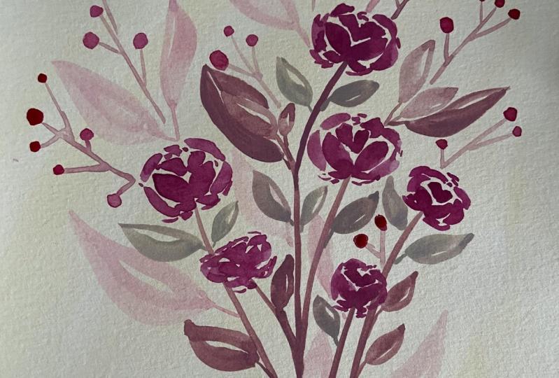 Loose Watercolor Bouquet