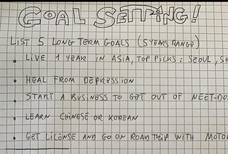 Goal Setting Project