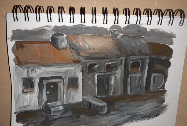 Irish houses / Red Mug
