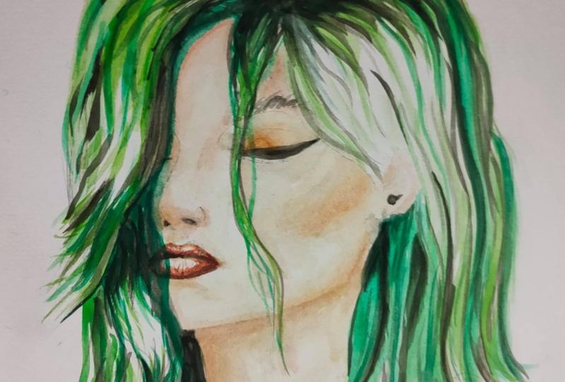 first watercolour portrait