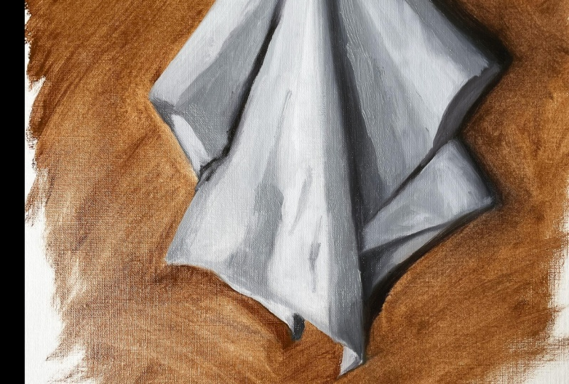 Value study- white cloth
