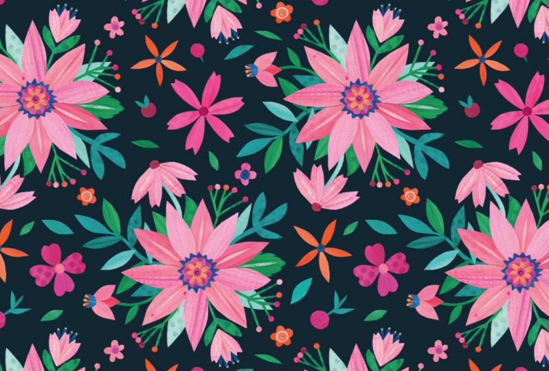 Pink Flower Collage (example project)
