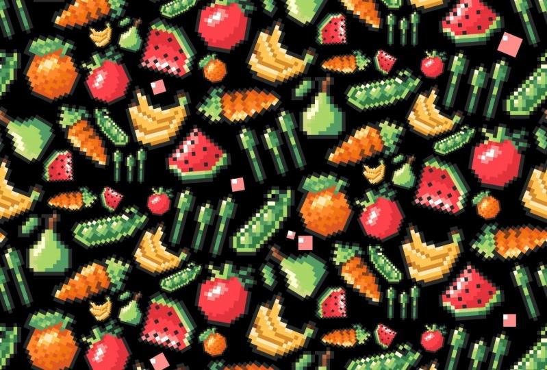 Fruit and veggie item set