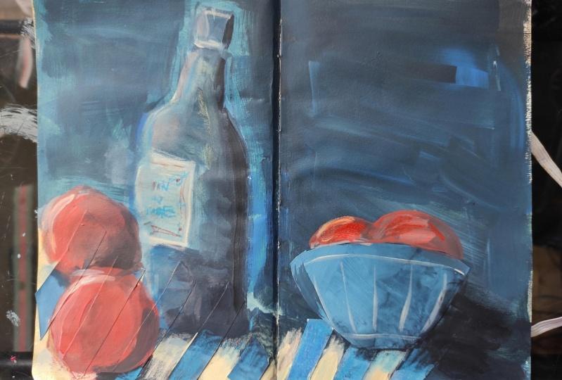 Vine bottle and grenades(?)