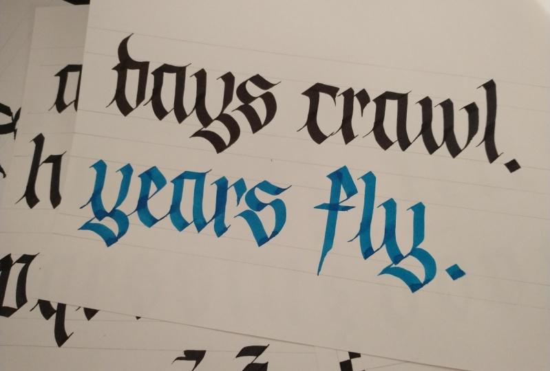 Days crawl. Years fly.