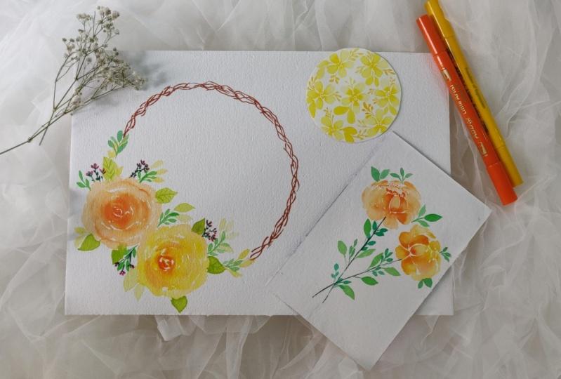 Brush pen loose florals