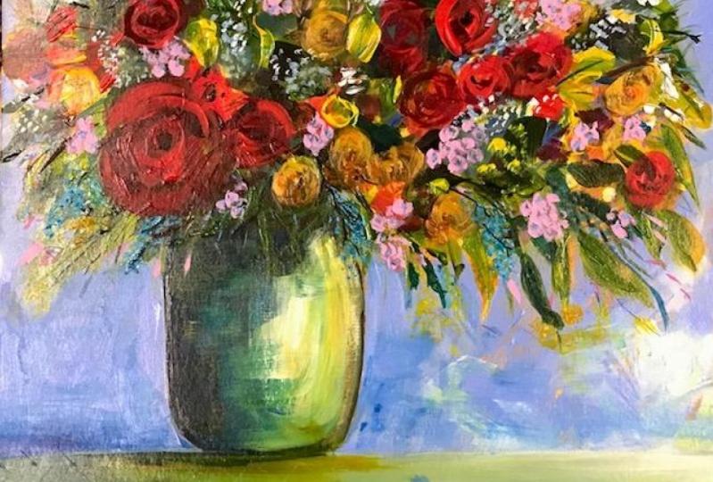 Flowers for Mum.