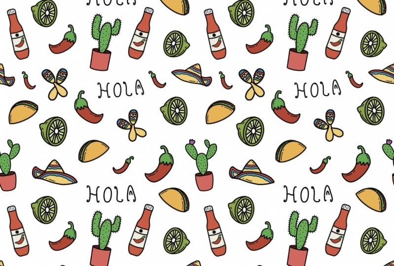 Mexico themed pattern