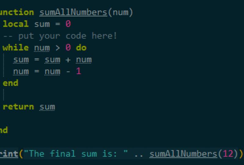 Lua Beginner Project