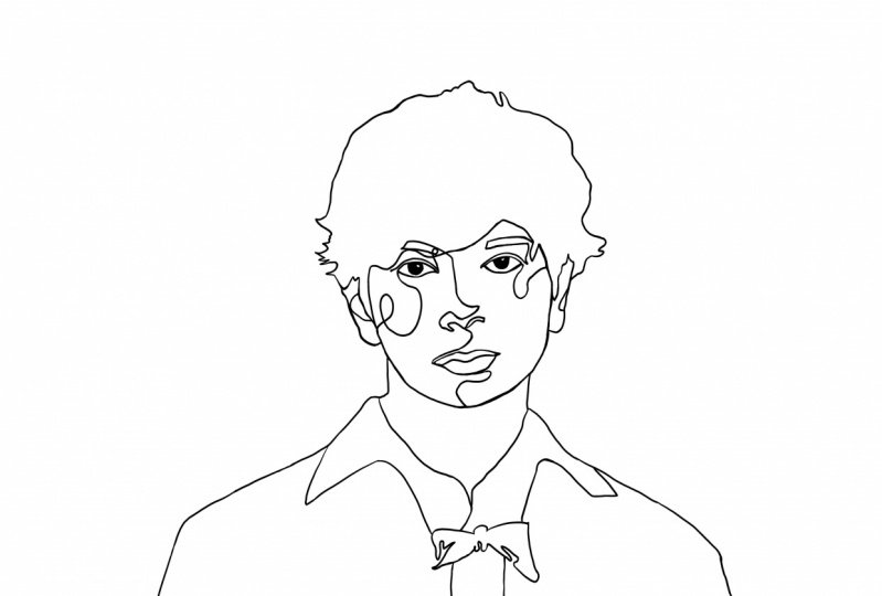 one-line drawing Matsumoto Jun