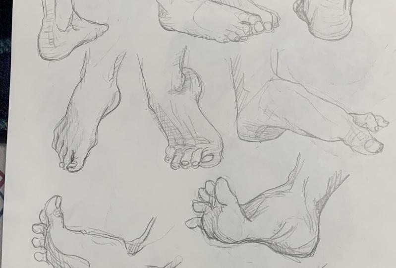 Feet Practice Sketch