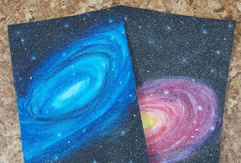 Watercolour galaxies by Zaneena Nabeel