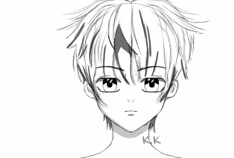Anime boy tutorial .