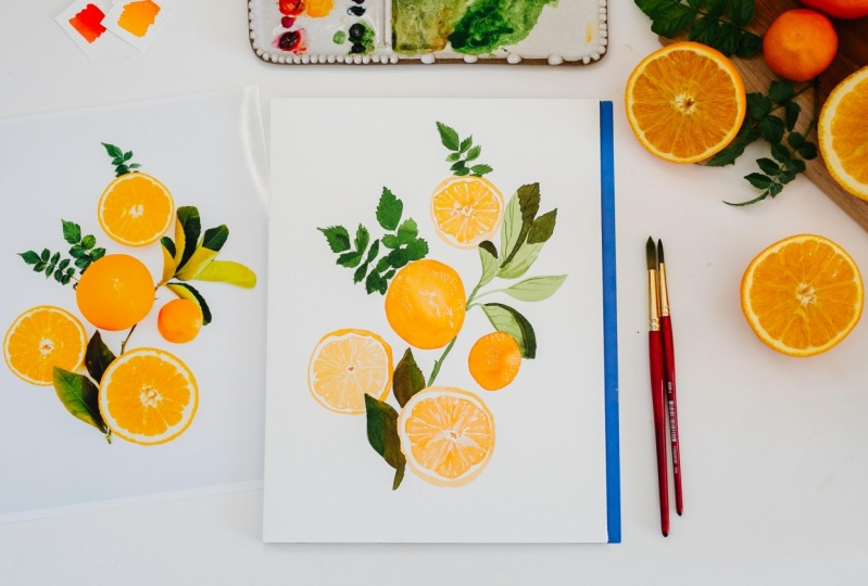 Sample Project: Cheerful Citrus Flat Lay